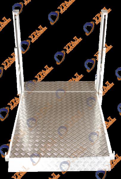 Обшивка пола грузонесущего устройства анти-скользящим рифленым алюминием